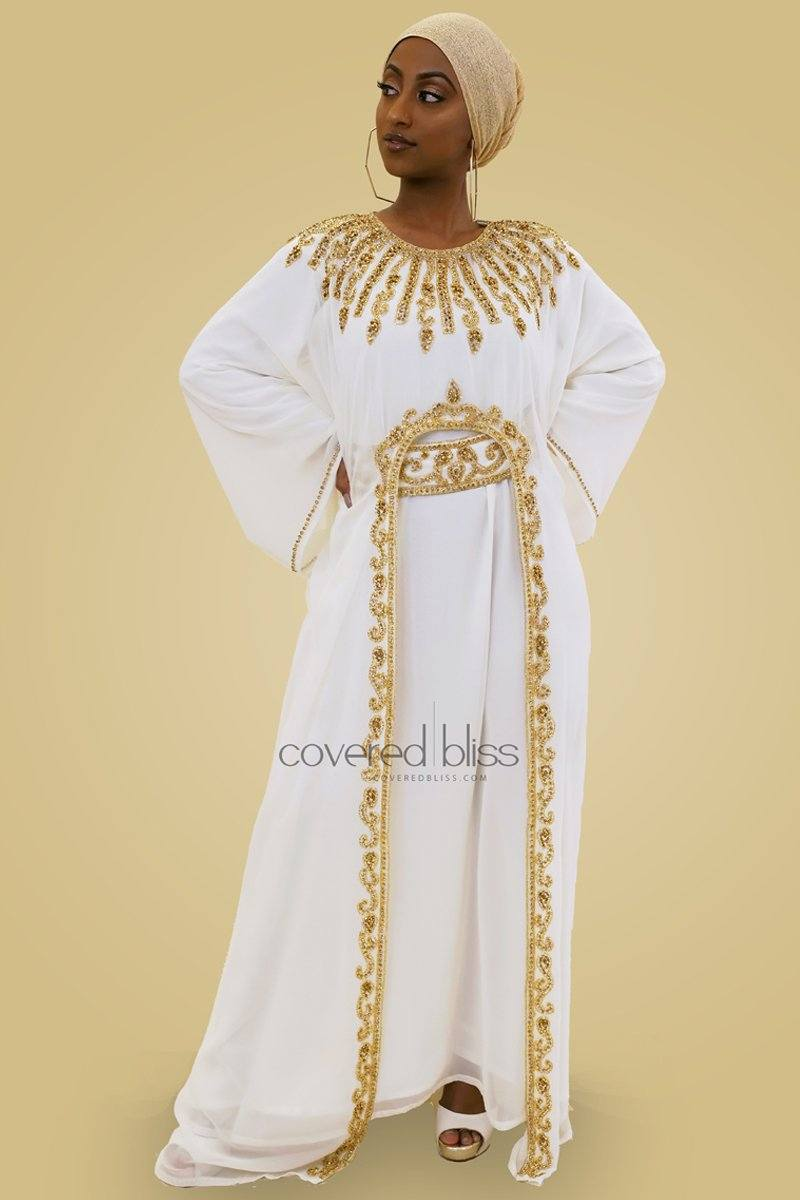 Ariana Gold Embroided Kaftan