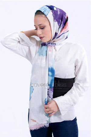 Viscose Cotton Scarf Purple
