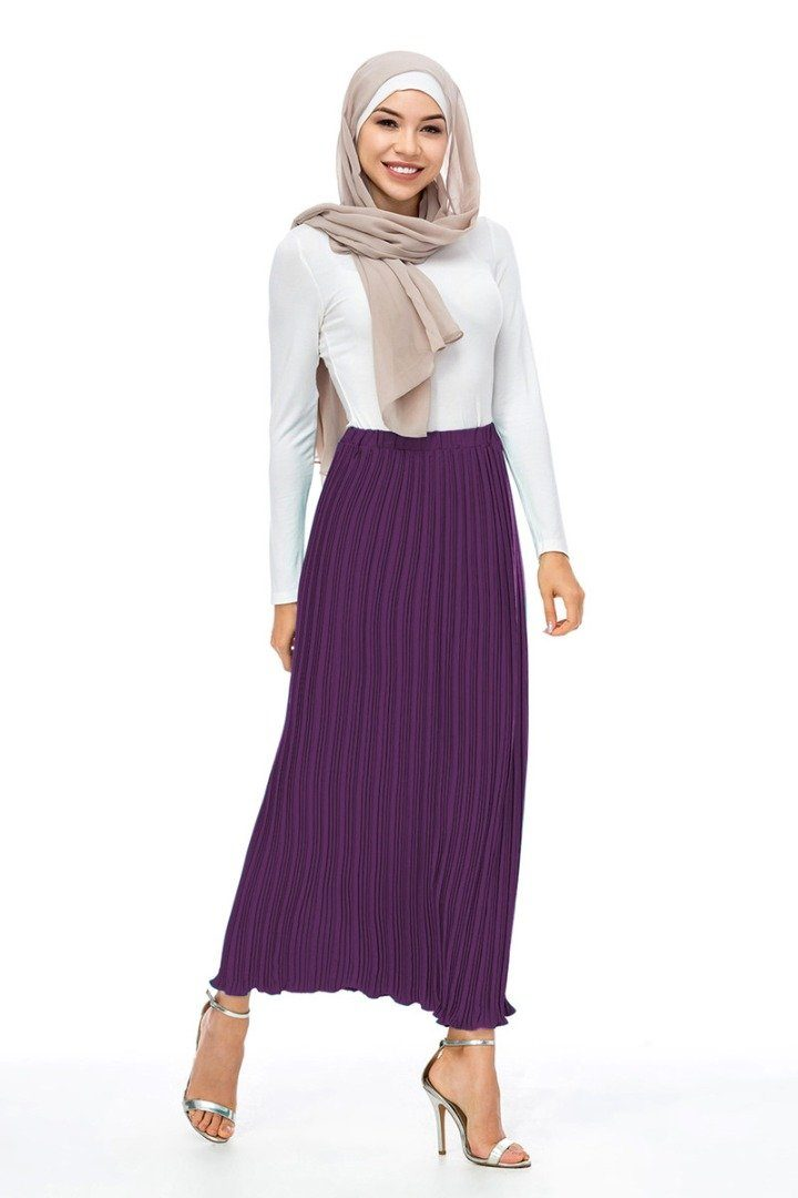 Alef Pleated Skirt Purple