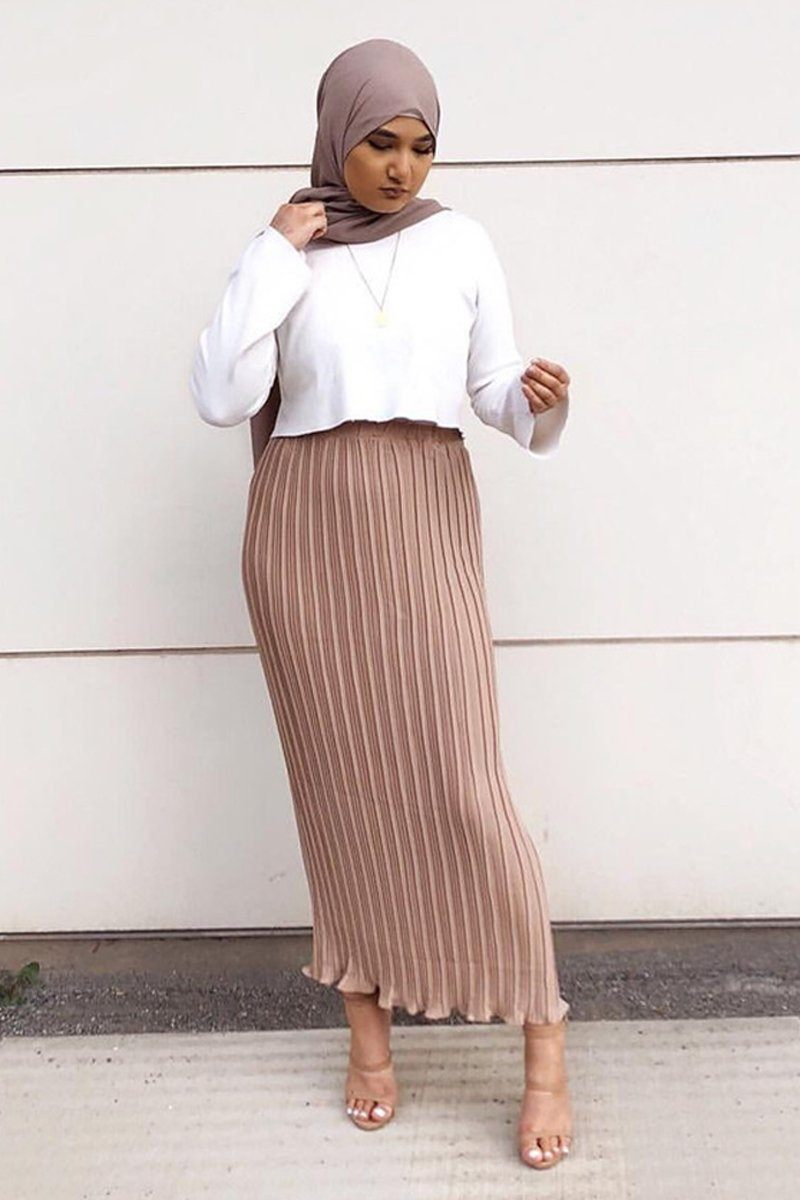 Alef Pleated Skirt Blush