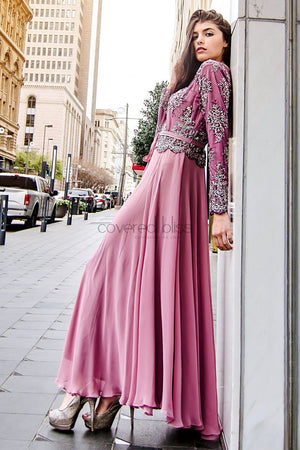 Elegance with Bliss – Plum formal dress