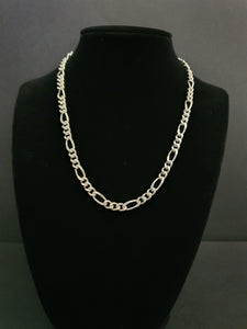 925 Sterling Silver Figaro Necklace