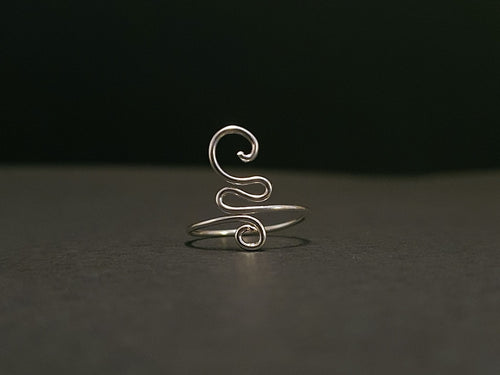 925 Sterling Silver Spiral Toe Ring