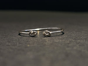 925 Sterling Silver Double Love Knot Ring
