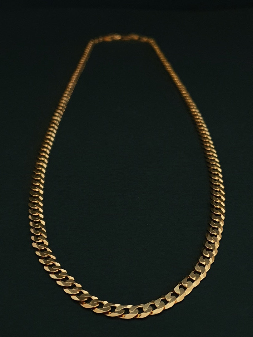 925 Sterling Silver Chain Plated With 1 Micron 18K Yellow Gold