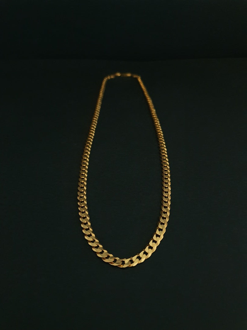 925 Sterling Silver Necklace Plated With 1 Micron 18k Yellow Gold
