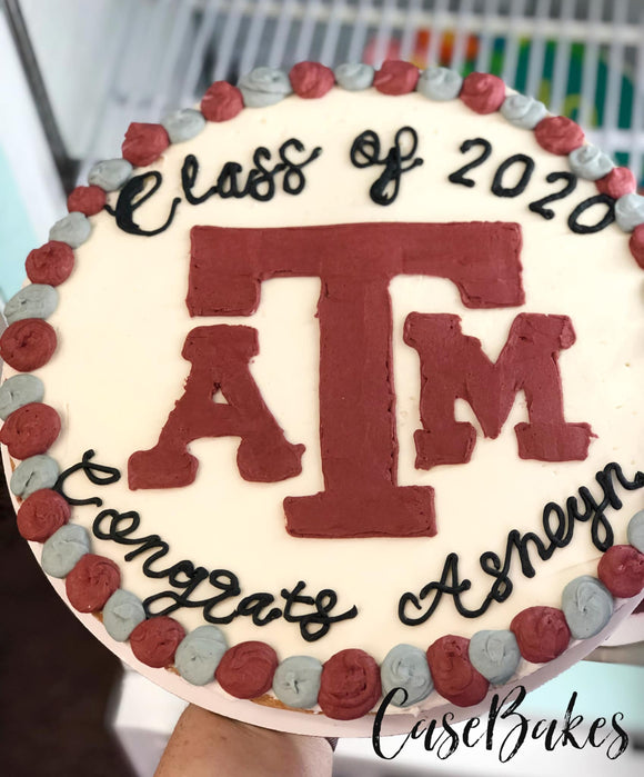 A&M Cookie Cake Graduation