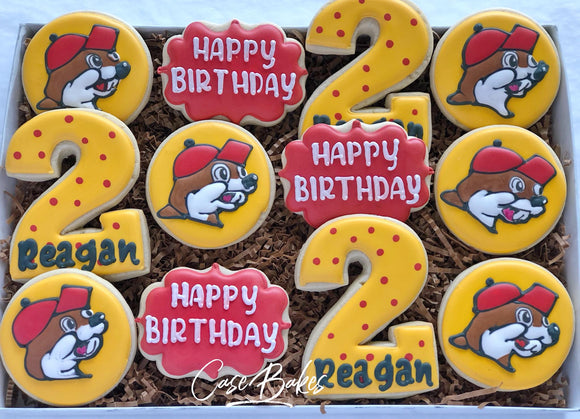 Beaver birthday cookies - 1 Dozen
