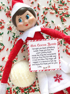 Elf Note with Cocoa Bomb - 1 Piece