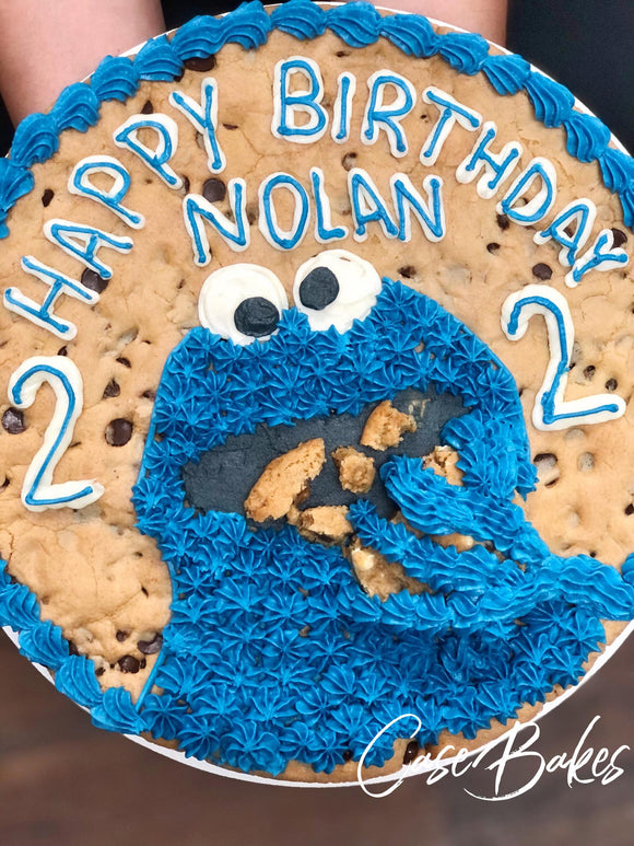 Cookie Monster Cookie Cake