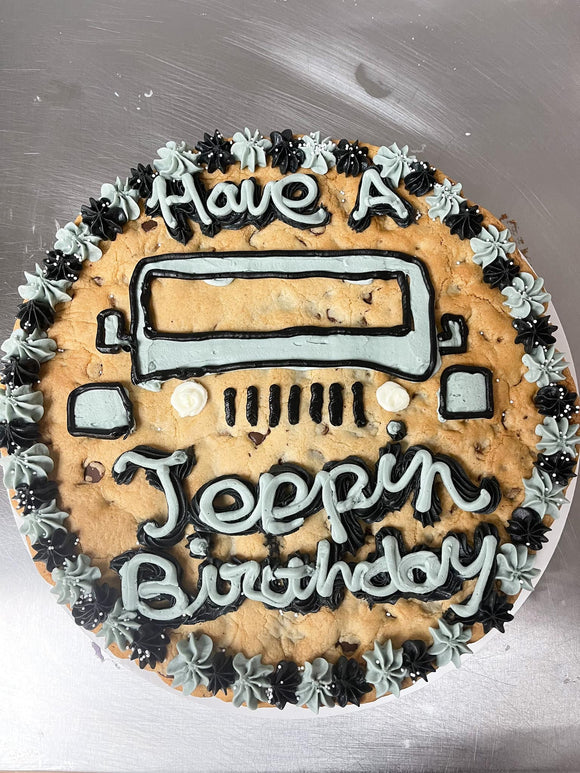 Jeep Birthday Cookie Cake