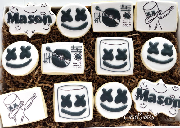 Marshmello Birthday Cookies - 1 Dozen