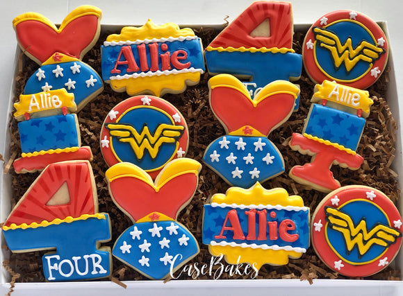 Wonder Woman Sugar Cookies - 1 Dozen