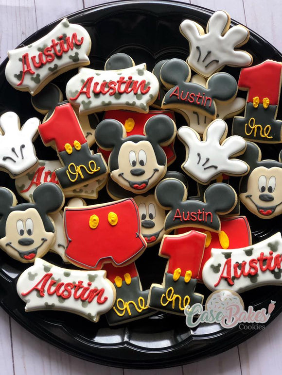 Mouse themed cookies - 1 dozen