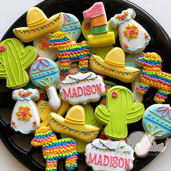 Fiesta themed cookies - 1 dozen