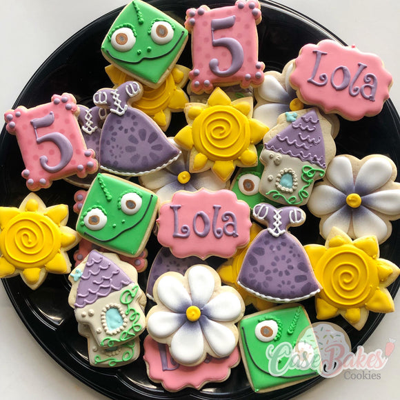 Tangle themed cookies - 1 dozen