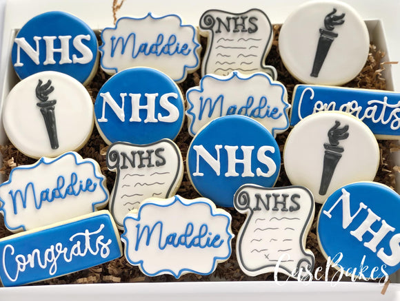 National Honor Society NHS Decorated Cookies - 1 Dozen