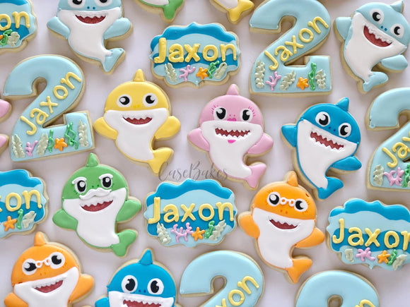 Baby Shark Birthday Cookies - 1 Dozen