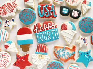 4th of July Patriotic set - 1 Dozen