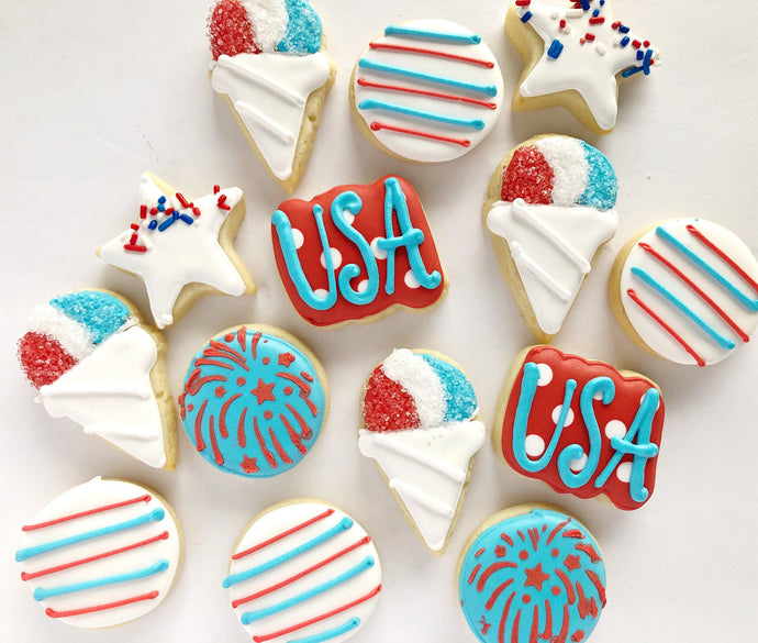 4th of July Mini variety Cookies - 3 dozen