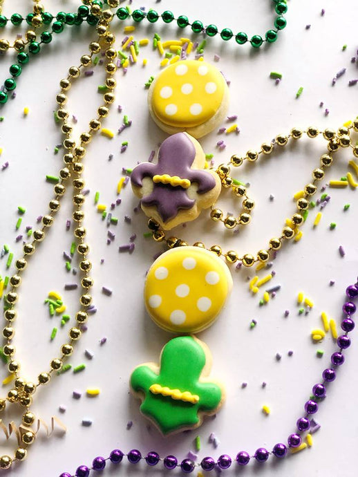 Mardi Gras Themed minis - 4 count