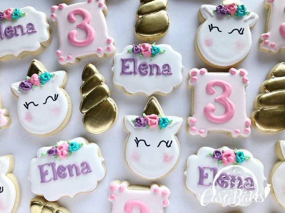 Unicorn themed birthday - 1 dozen