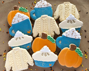 Fall Spice Decorated Cookies - 1 Dozen