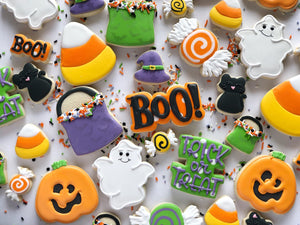 Halloween Themed Sugar cookies - 1 dozen