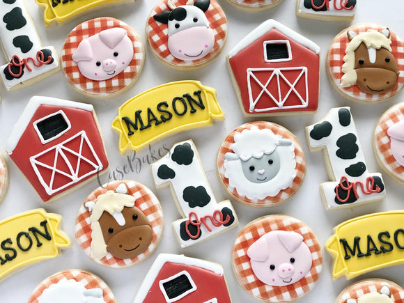 Farm themed birthday - 1 dozen