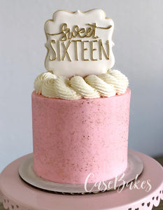 Pink & Gold Speckled cake - 5""