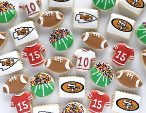 Super Bowl Mini Cookies - 2 dozen