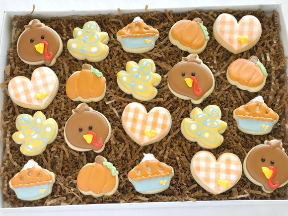 Thanksgiving Mini Cookies - 2 Dozen