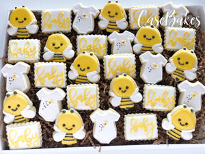 Bee Baby Shower Minis - 1 Dozen