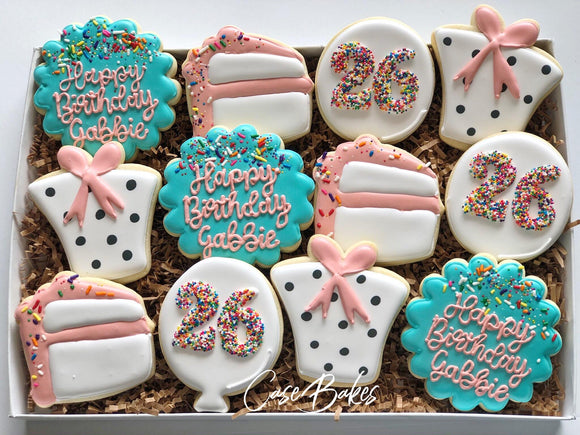 Sprinkle Birthday Cookies - 1 Dozen
