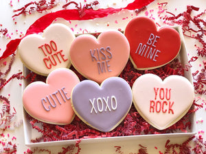 Traditional Conversation Hearts - 6 Pack gift set