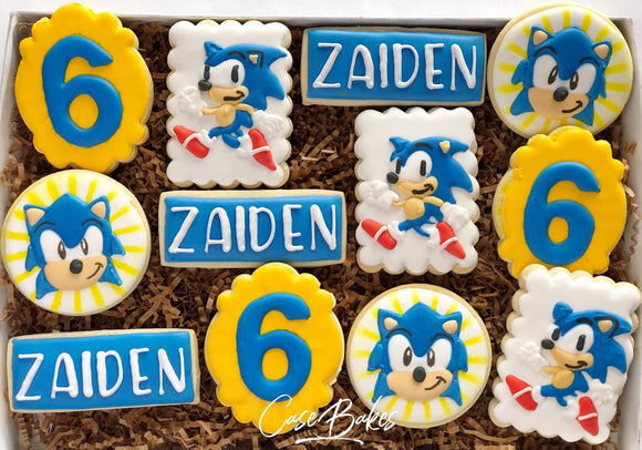 Sonic Hedgehog Cookies - 1 Dozen