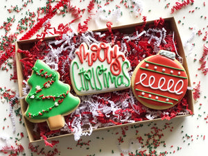 Christmas cookie gift box set - 3 piece & Christmas cookie gift box set - 3 piece u2013 casebakes cookies