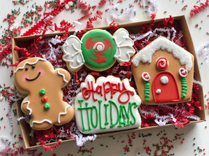 Gingerbread Man Happy Holidays set - 4 piece