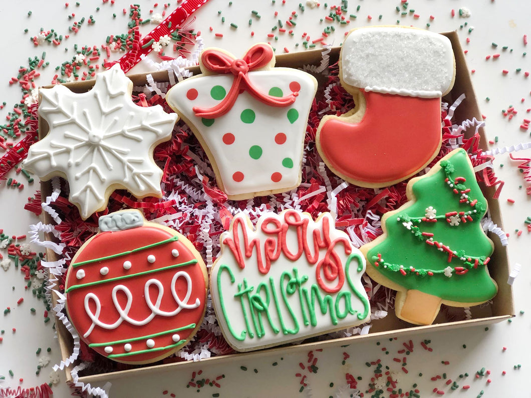 Christmas Cookie gift box - 6 cookies