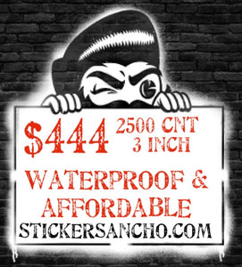 Gloss Laminated Full-color Diecut Stickers 200 Qty
