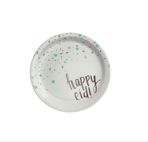 "happy eid plates - ""confetti"""