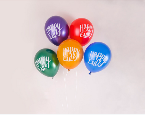 happy eid balloons - assorted metallic