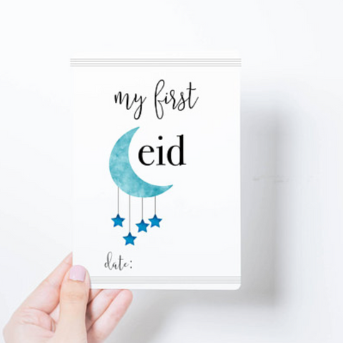 my first eid milestone card