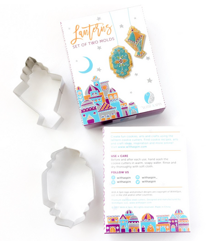 lantern shaped cookie cutters - set of 2