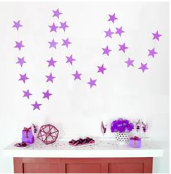 star banner - gold, silver or purple