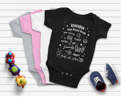 "Ramadan ""Blessed Month"" Onesie (Infants)"