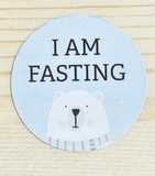 """I am Fasting"" stickers"