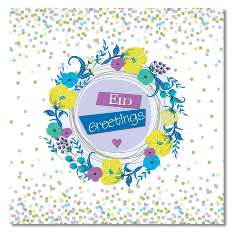 Eid Greeting Card - Confetti