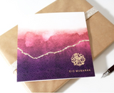 Luxury Eid Card - Ombre (Purple) and Gold Foil