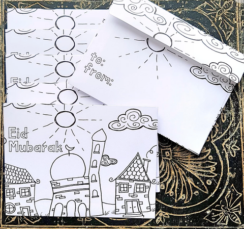 """Colour Me"" Eid Money Envelopes"